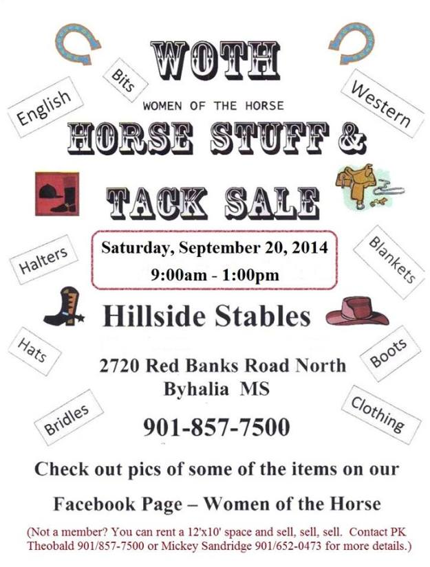 WOTH Tack Sale